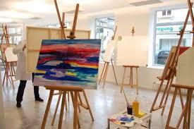 Kunstatelier voorbeeld